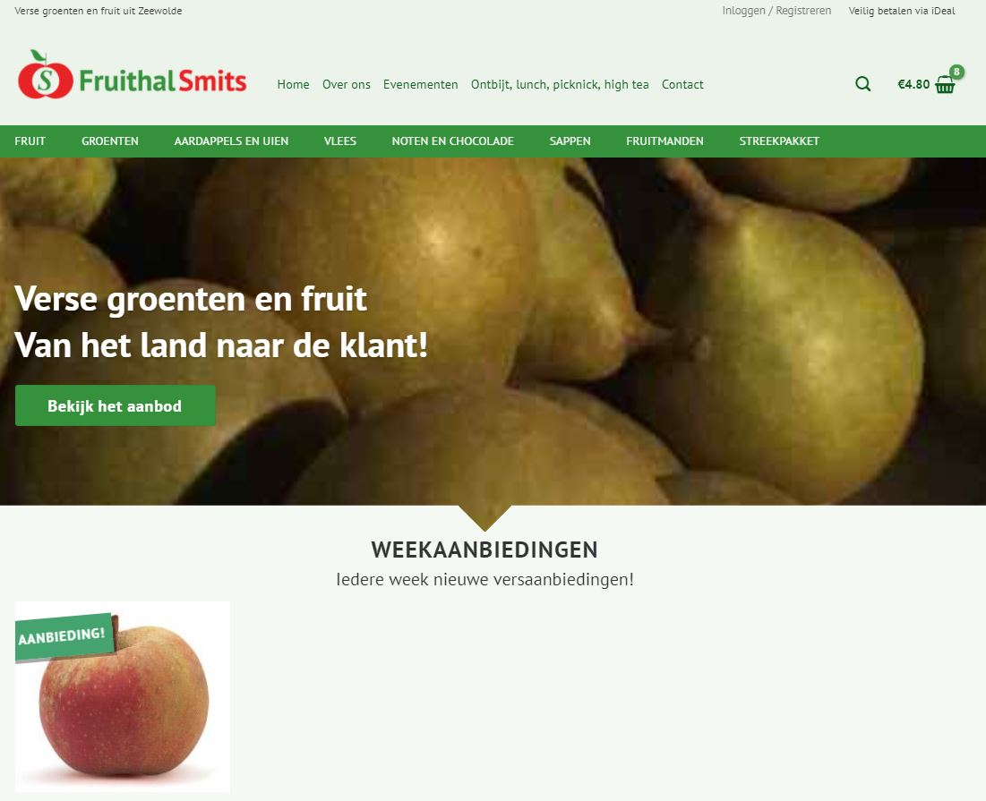 Webshop Fruithal Smits